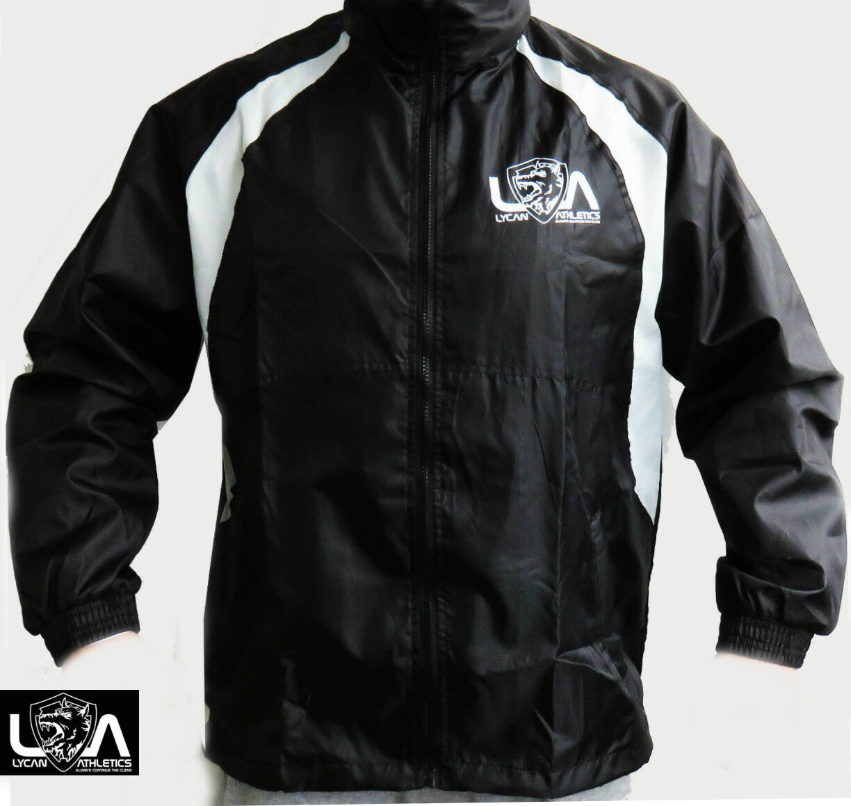 Details about LYCAN SPORTS MEN GYM JACKET running sweat sports rain hoodie workout waterproof