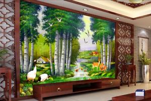 3D Dschungel Fluss Tier 676 Tapete Tapeten Mauer Foto Familie Tapete Wandgemäld
