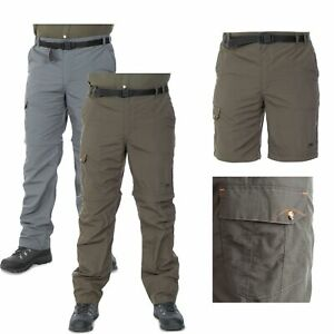 Trespass-Rynne-Mens-Walking-Trousers-in-Grey-amp-Olive-for-Hiking-Camping