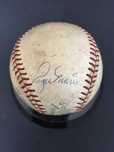 Roger-Maris-Single-Signed-Official-NL-Giles-Baseball-Vintage-Autograph-Jsa-Coa