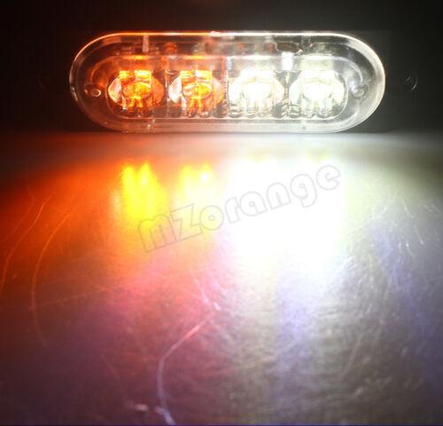 1X4 LED Car Truck Flash Emergency Warn Strobe Light Lamp 12V-36V Red Blue Amber
