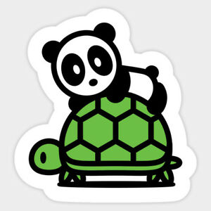 Sea Turtle Kawaii Cute Panda Vinyl Wall Decal Decor