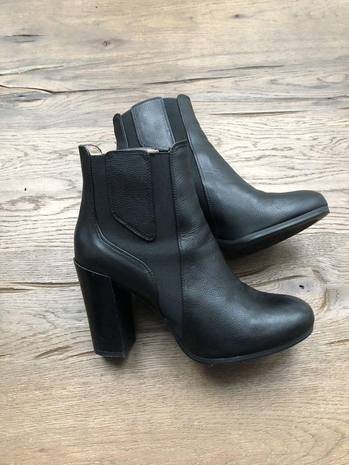 Unisa Damen Stiefeletten Gr. 40 Leder Stiefel,Guter Stiefel,Guter Leder Zustand Schwarz ad808c