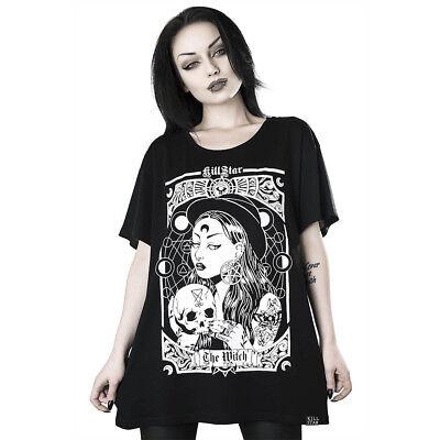 Flucht Fasching Karneval Witch Wizard V-T-Shirt Hexe 04 Halloween Damen