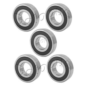 5 Pcs Premium 6306 2RS ABEC3 Rubber Sealed Deep Groove Ball Bearing 30x72x19mm