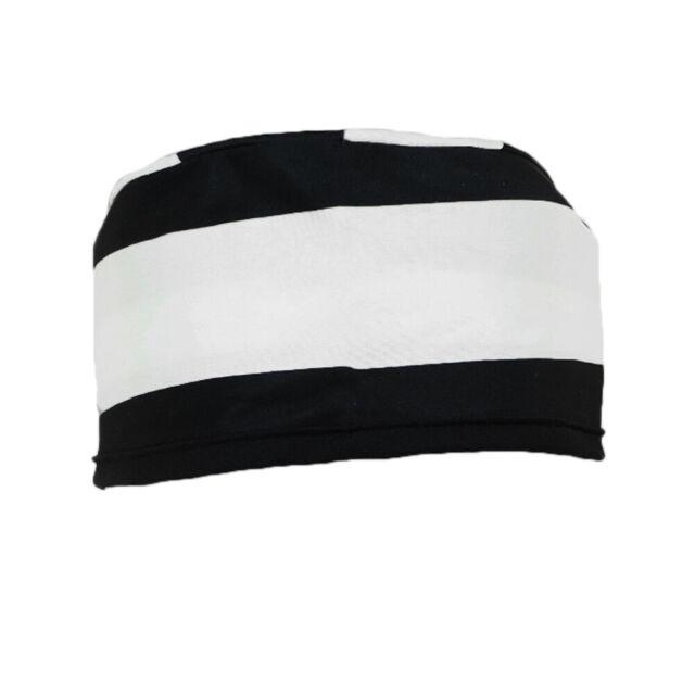 Fancy Dress Cap Black White Stripes New Prisoner Hat For Convict Costume