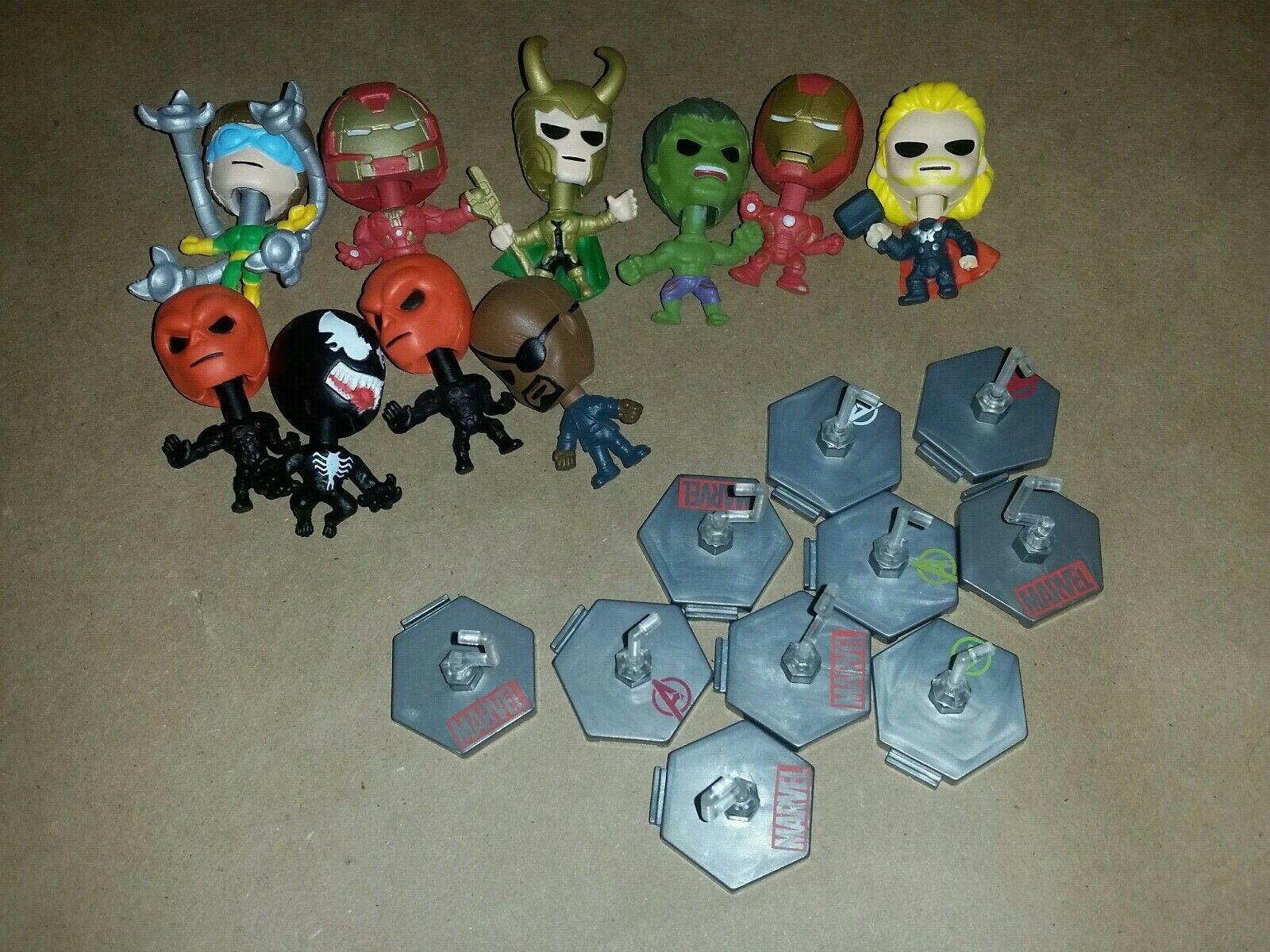 Marvel avengers blip blip blip bobble head lot Hulkbuster red skull thor venom loki hulk 9dbe22