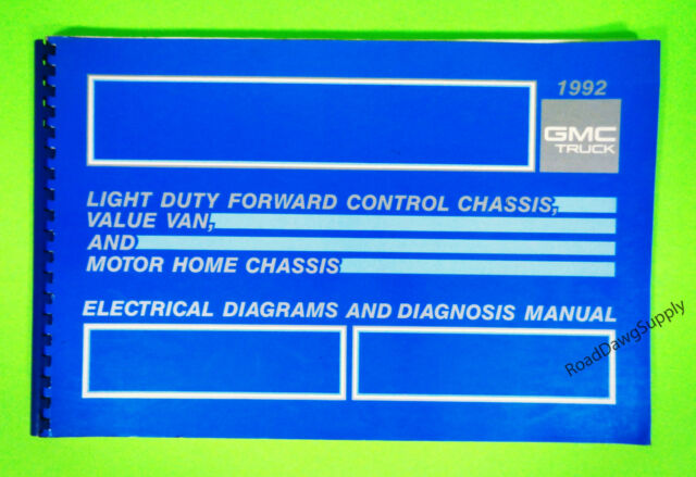 1992 Gmc Motorhome Forward Control Chassis Wiring Diagrams Service Shop Manual