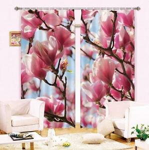 3d Magnolia Flower Blockout Photo Curtain Printing Curtains Drapes
