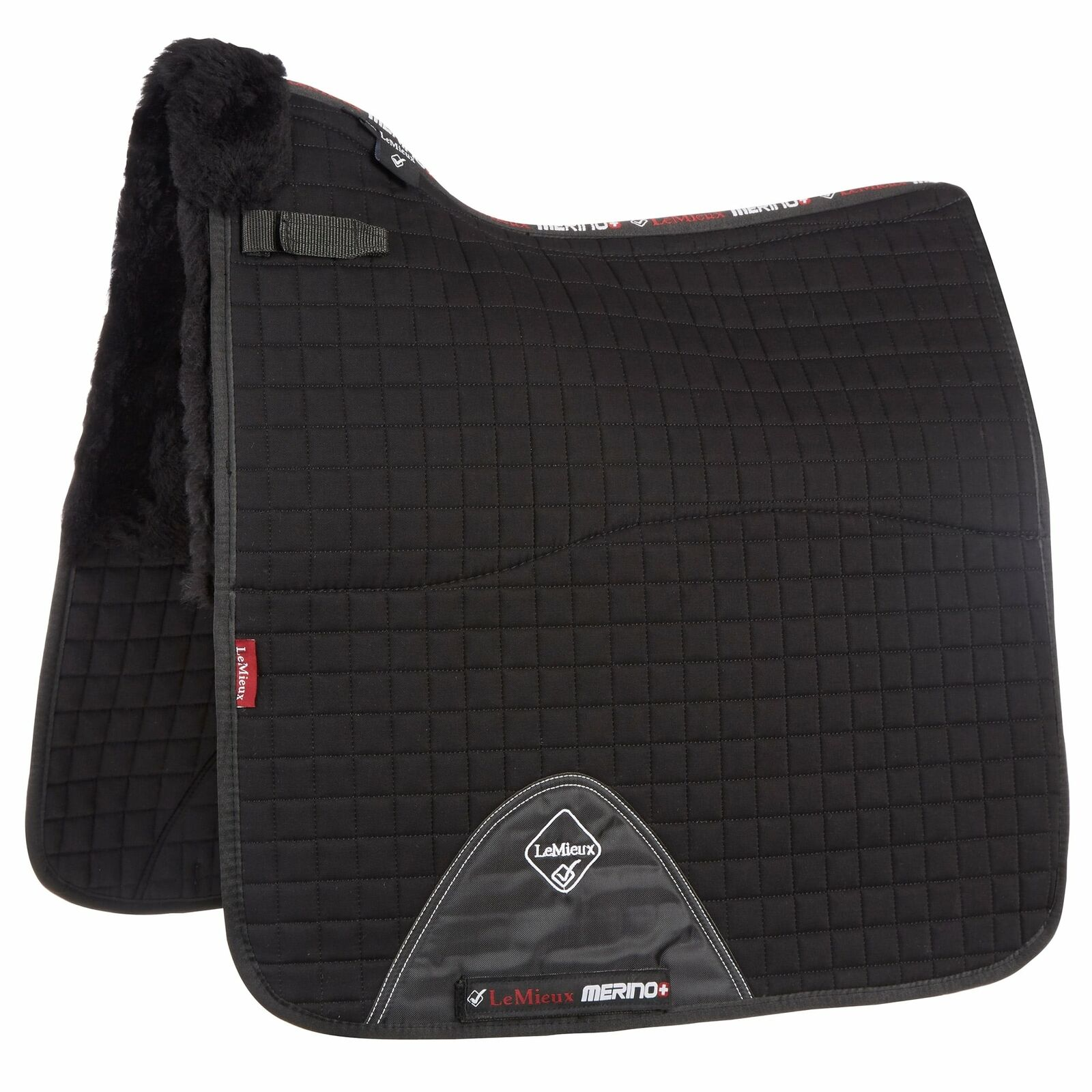 LeMieux Pro Lambswool Half Lined Dressage Square - Horse saddlepad