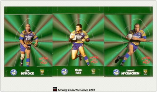 1997 Dynamic Rugby League POPUP CARDS m SetsPARRAMATTA EELS3