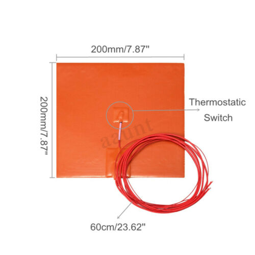 1000W 110V 15W 220V Silicone Heater Heated Bed Pad Heating Mat 3D Printer