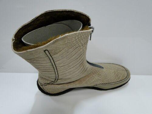 Lined Warm 'camel' Leather Bachini Super Boots Wool Ladies Calf Mid Charlotta Pqxan0P