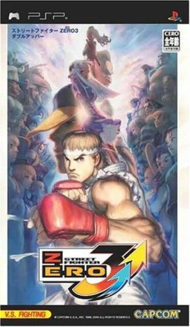 USED PSP street fighter zero 3 double upper sony playstation
