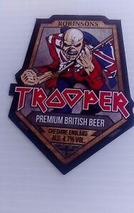 4 x iron maiden beer mats coasters