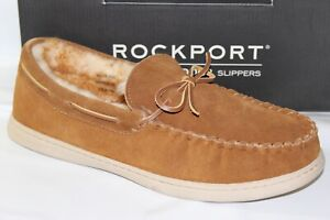 ROCKPORT-SUEDE-MOCCASIN-MEN-039-S-SLIPPERS-COLOR-CARAMEL-DARK-TAN-25427