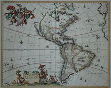 Novissima et accuratissima Totius Americae - Visscher 1670 -First state -America