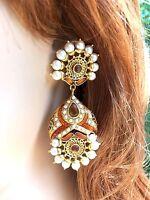 Pearl Kundan Handmade Chandelier Fashion Earrings Usa Seller