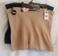 Delta Burke Intimates 2 Pair Seamless Shaping Shorts Beige And Black Db7422