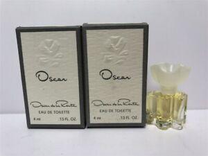 Lot of 2 Oscar by Oscar de La Renta 0.13 oz/4ml Eau de Toilette Mini Splash