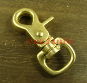 Brass lobster clasps swivel eye Fob trigger Snap hook for keychain Bag KC171