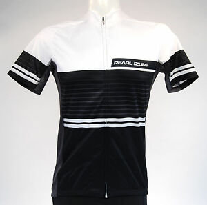 Pearl-Izumi-ELITE-Escape-LTD-Jersey-Short-Sleeve-Men-039-s-Linear-White-Black-Medium