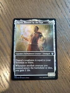 DAXOS MTG Magic - 1x BLESSED BY THE SUN Theros Beyond Death showcase foil NM