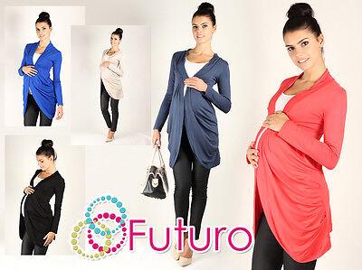 Women's Maternity Cardigan Long Sleeve Shrug Jacket Pregnancy Sizes 8-18 0521