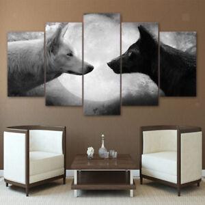 Impresiones-de-lona-Moderno-Pared-Arte-Decoracion-de-Pared-Dormitorio-de-imagen-paisaje-Wolf-L