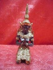 schöne ,alte Bronze -Figur__Tempelwächter__Buddah_ !