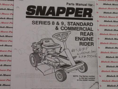06085 Snapper Series 8 /& 9 Rear Engine Rider Parts Manual