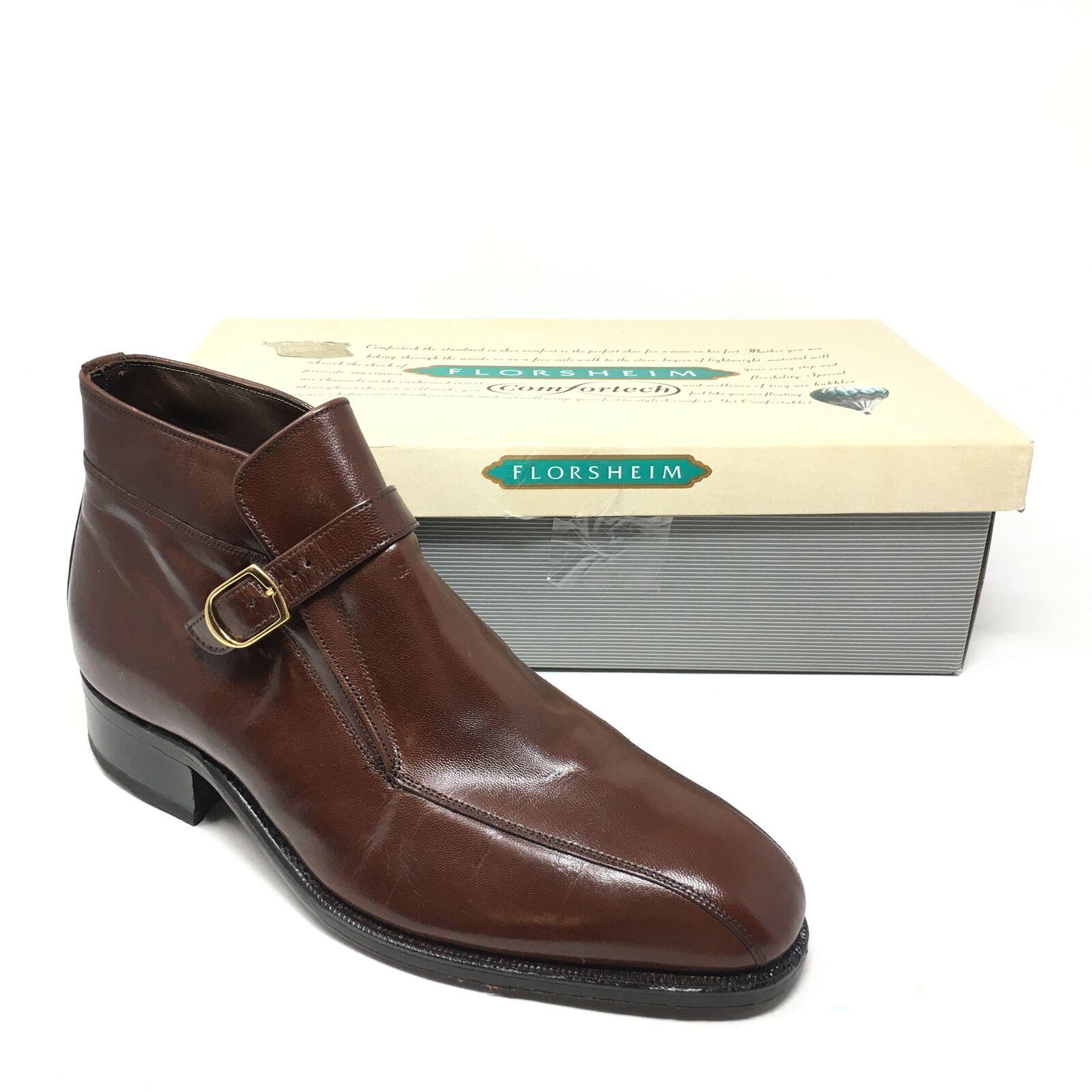 Men's NEW Florsheim Imperial Camdon Demi Ankle Boots shoes Size 9D Brown Q15