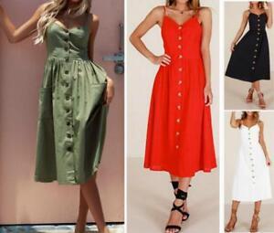 AU-SELLER-Cotton-50-039-S-Vintage-Rockabilly-Retro-Swing-Pinup-Summer-Dress-dr195