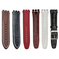 17mm Genuine Leather Standard Swatch Replacement Watch Band Strap Ships Form Usa