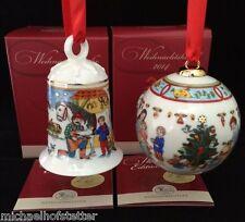 Hutschenreuther Porzellan Weihnachts Glocke und  Kugel 2014 OVP 2er Set NEU