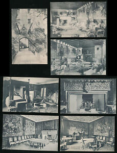 SCOTLAND-CAWDOR-CASTLE-c1930-MORAY-PUBLISHERS-PPCs-7-CARDS
