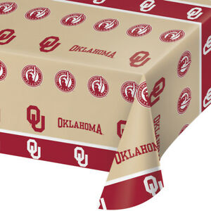 225 & Details about 2-ct University of Oklahoma Sooners Premium Plastic Table Covers College Party