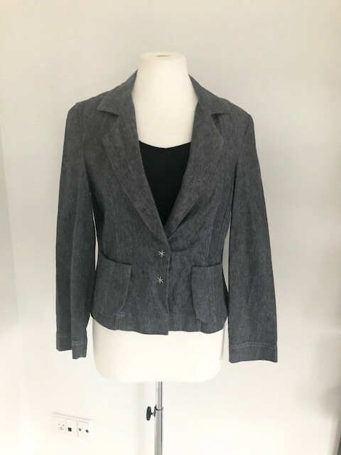 Blazer, str. 42, Khaterhe Shirvany,  Denim,  Bomuld og…