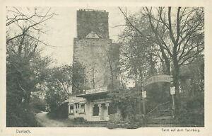 Ansichtskarte-Durlach-Turm-auf-dem-Turmberg-1914-Karlsruhe-Nr-752