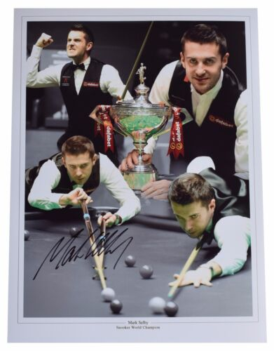 Mark Selby SIGNED autograph 16x12 HUGE photo Snooker Memorabilia AFTAL COA