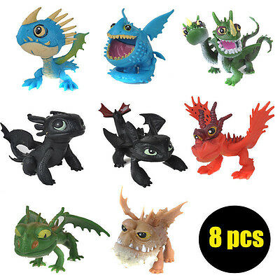 8pcs How to Train Your Dragon Night Fury Action Figures Kids Children Baby Toy
