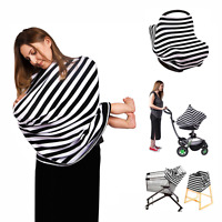 Baby Car Seat Cover - Multi Use Nursing Cover Highchair - Shopping Cart...
