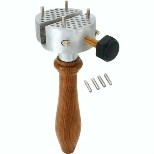 Hand Held Vice Universal Work Part Holder Clamp Vise Engraver Peg Jewelry Repair
