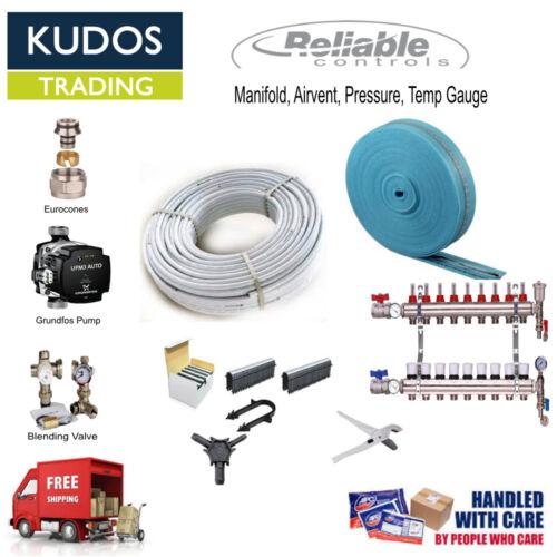 Underfloor Heating Multi Zone//Room KIT Water Wet 5 Layers Pipe 20-200 SQM