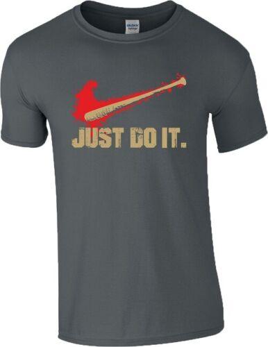Just Do It T Shirt The Walking Dead Series Slogan Slang Negan Lucille Mens Top