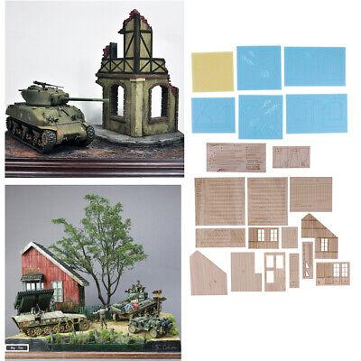 Ruins House World War II Battlefield Remains Buildings 1//35 Scale Model 2x
