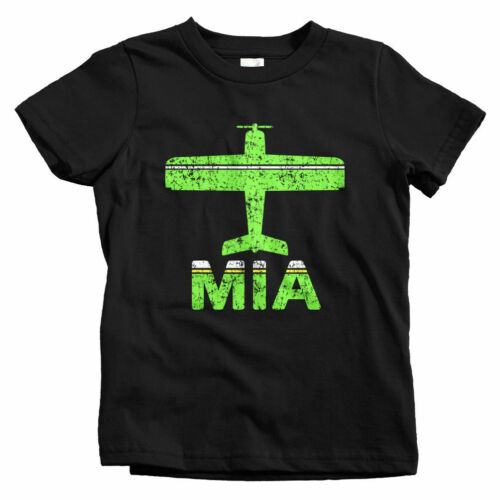 Florida Gift Beach Baby Toddler Youth Tee Fly Miami MIA Airport Kids T-shirt