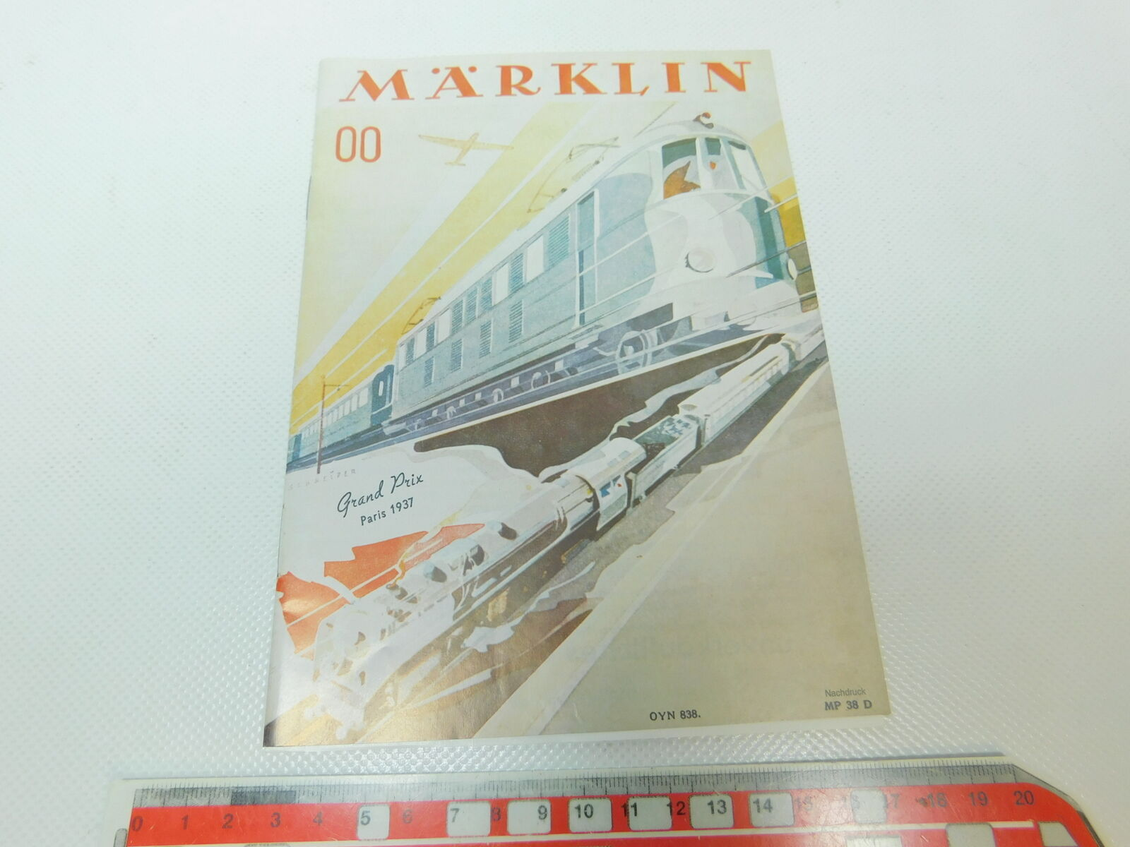 BP439-0,5 Märklin Gauge 00 Reproduction Catalogue Mp 38 1938 D Electric