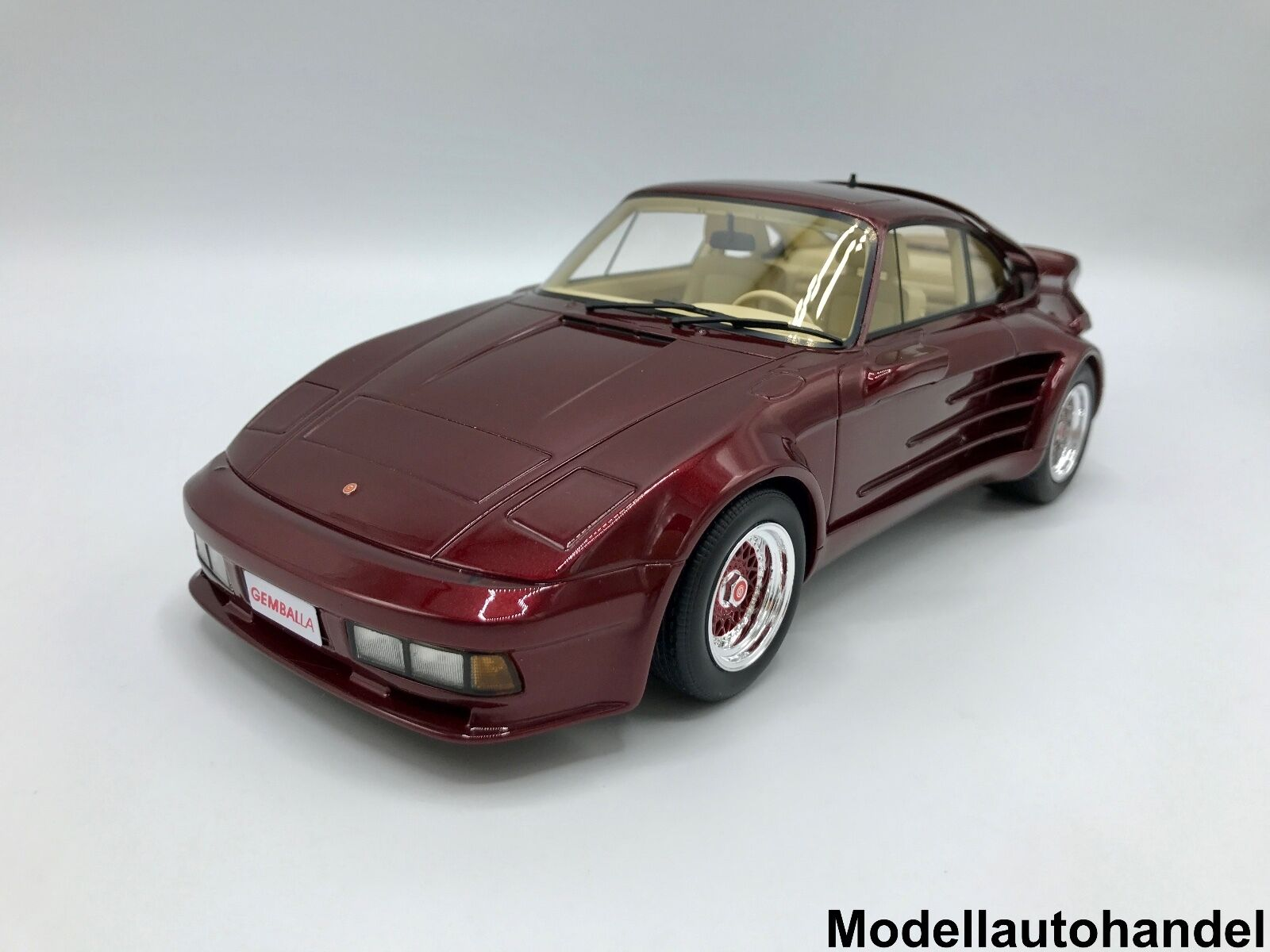 Porsche 911 Turbo Gemballa Avalanche met. - dunkelrred 1 18 BOS    NEW