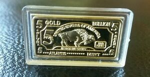 Lot Of 10 5 Gram Gold Buffalo Bullion Bars 100 Millls
